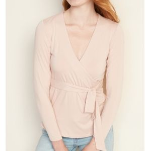 Old Navy Blush Pink Luxe Wrap-top XL